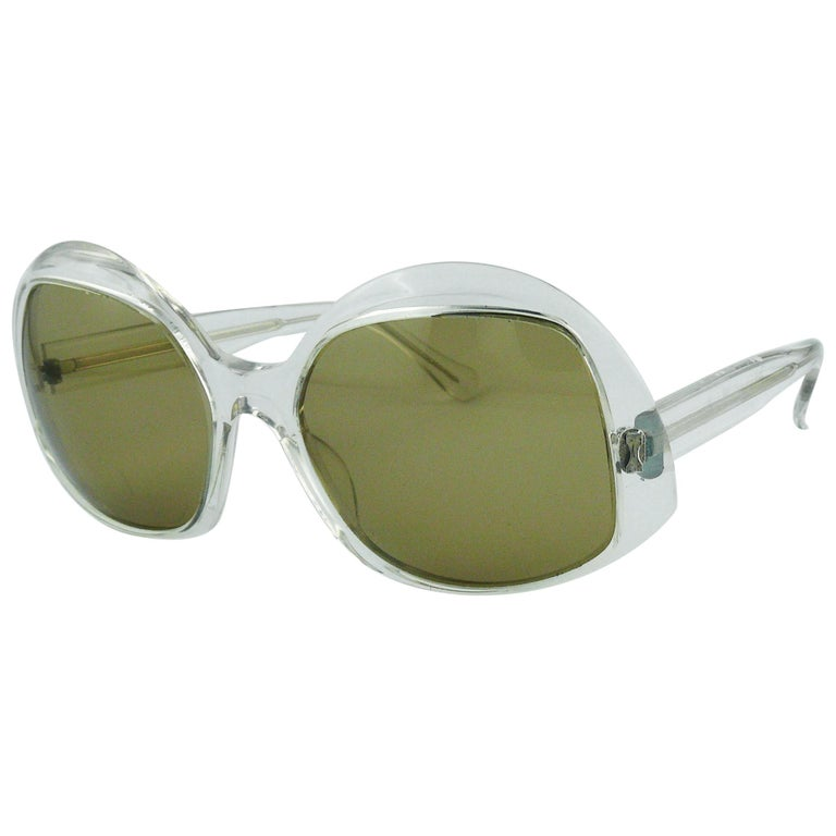 1e459462f500a Pierre Marly Vintage Week-End Clear Sunglasses For Sale at 1stdibs