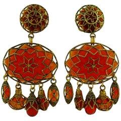 Satellite Paris Vintage Massive Ethnic Dangling Earrings