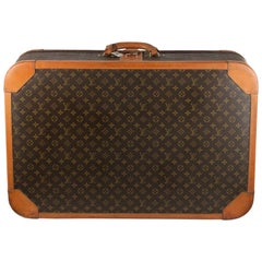 Louis Vuitton Vintage Monogram Special Lock 80 Luggage Travel Bag Trunk