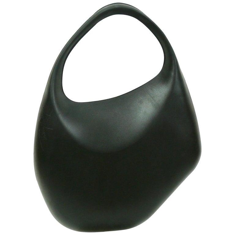 Thierry Mugler Vintage Black Le Bubble Rubber Handbag For