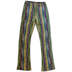 Missoni vintage, exclusive  wave lace fabric, pant boots, S/M.