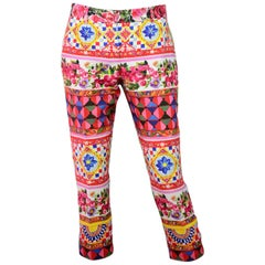 Dolce & Gabbana Multi-Color Majolica Capri Sz IT40