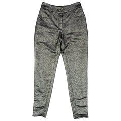 Chanel Black & Silver Pants Sz FR38