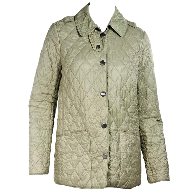 Light Green Burberry Quilted Jacket