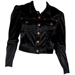 Black Vintage Gaultier Jeans Cropped Jacket
