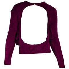 Purple Vintage Alaia Cutout Sweater
