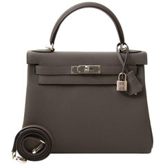 Hermes Togo Etain Kelly 28 Bag