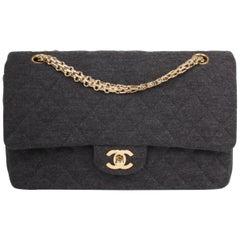 Chanel 2.55 Reissue Medium Double Flap Bag Jersey - dark grey