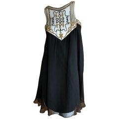Karl Lagerfeld 1984 Lesage Sequin Embellished Babydoll Mini Dress