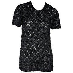 Black Vintage Comme des Garcons Lace-Like Top