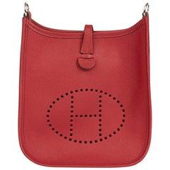 2016 Hermes Rouge Grenat Epsom Leather Evelyne III TPM