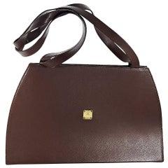 Brown Vintage MCM Leather Shoulder Bag