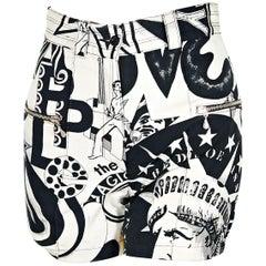 Versace Multicolor Vintage Couture Jeans Shorts