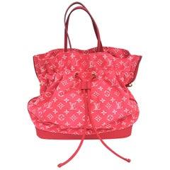 Louis Vuitton Noefull Rose Indian Monogram Denim Drawstring Bag
