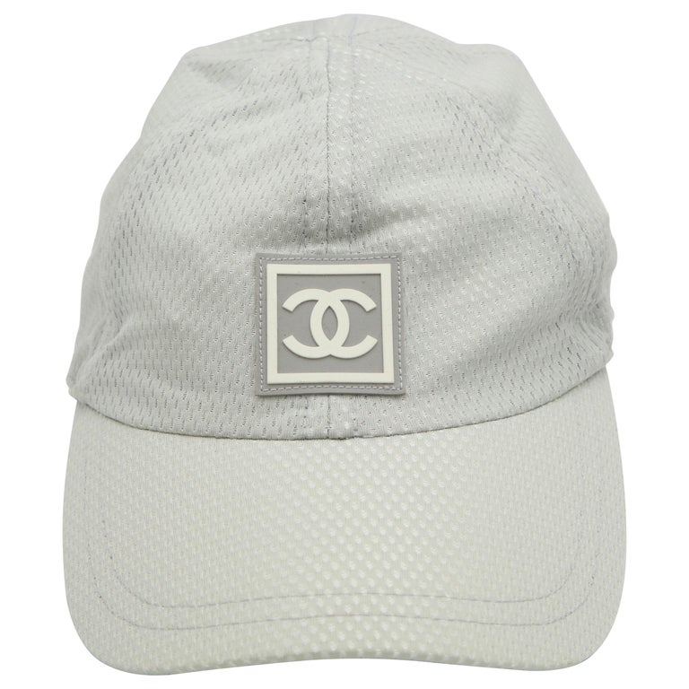 Chanel Sport Rare Gray Cap with CC Logo For Sale