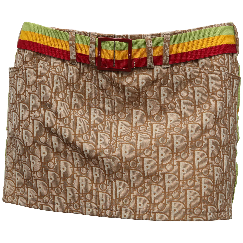 7ca875c027a0e Extremely Rare John Galliano for Christian Dior Rasta Color Logo Swim Skirt  36 For Sale at 1stdibs