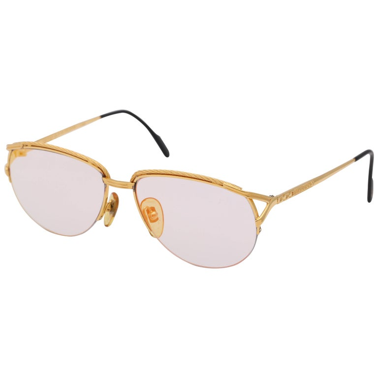 Vintage Tiffany Gold Sunglasses T318  For Sale