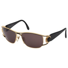 Vintage Fendi Gold/Black Sunglasses