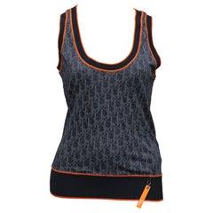 Christian Dior Navy Blue Iconic Logo Tank Top Tank Top T-shirt