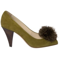 New Yves Saint Laurent YSL Avocado Heels Suede Pumps