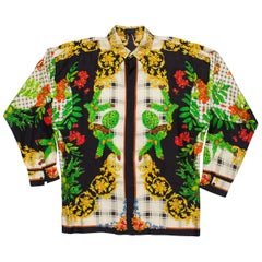Gianni Versace Istante Autumn Men's Silk Shirt, 1990s