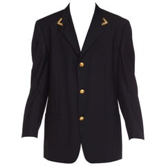 1990s Men's Istante Versace Western Collection Blazer With Gold Details