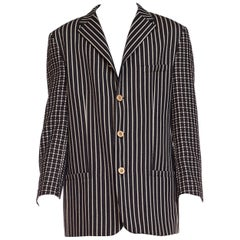Gianni Versace Men's Art Deco Collection Blazer With Medusa Buttons, 1990s