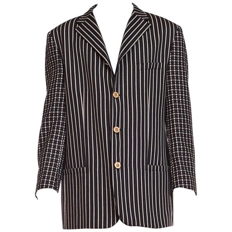 Gianni Versace Men's Art Deco Collection Blazer With Medusa Buttons, 1990s