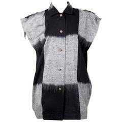 1980's ISSEY MIYAKE ikat woven top