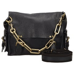 Mulberry Black Chain Leather Messenger Bag