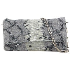 Gucci Silver x Gray x Light Gray Beaded Chain Shoulder Bag