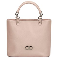 Ferragamo Pink Leather Gancini Handbag