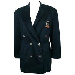 Jean Paul Gaultier Vintage Navy Blue Nautical Blazer