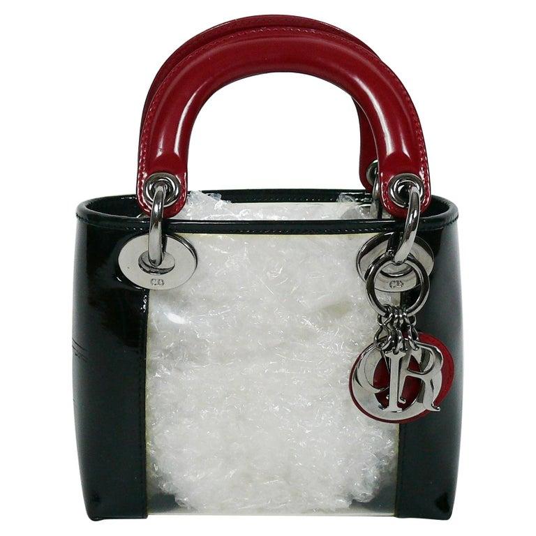 Christian Dior Mini Transparent Pvc And Leather Lady Dior
