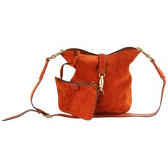 Gucci Rust Suede Jackie Bucket Bag Shoulder Bag