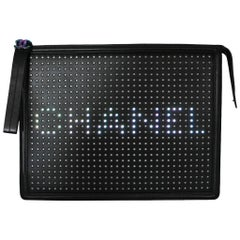 Chanel LED Boy Black Clutch No. 24