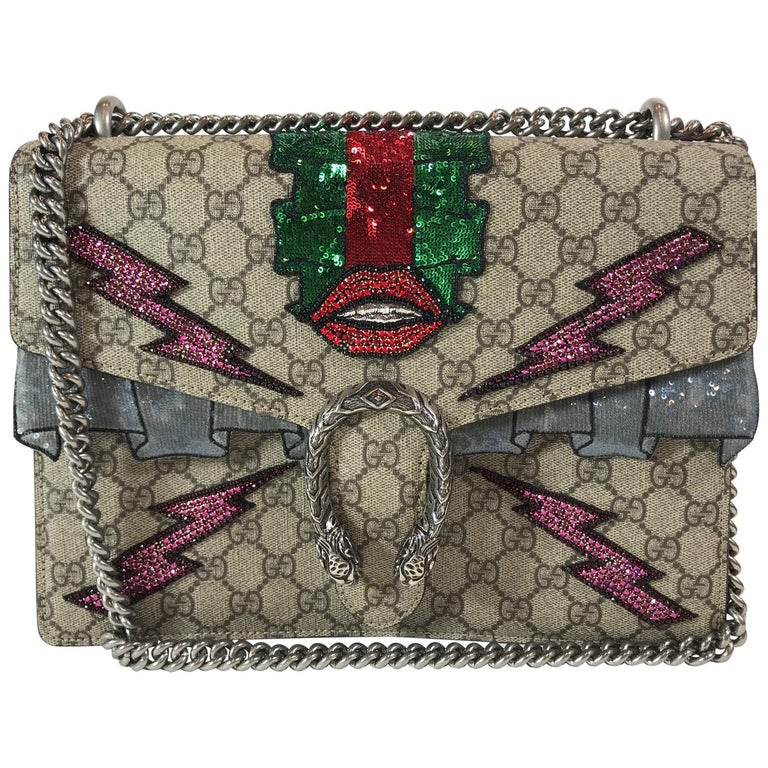 77607880f16 Gucci Embroidered GG Supreme Dionysus Bag For Sale at 1stdibs