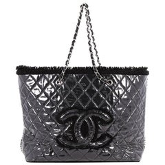 Chanel Funny Tweed Tote Quilted Vinyl Large