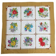 Gucci floral cotton scarf 33 x 33