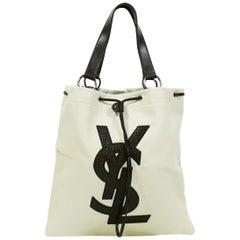 Yves Saint Laurent Canvas YSL Tote Bag