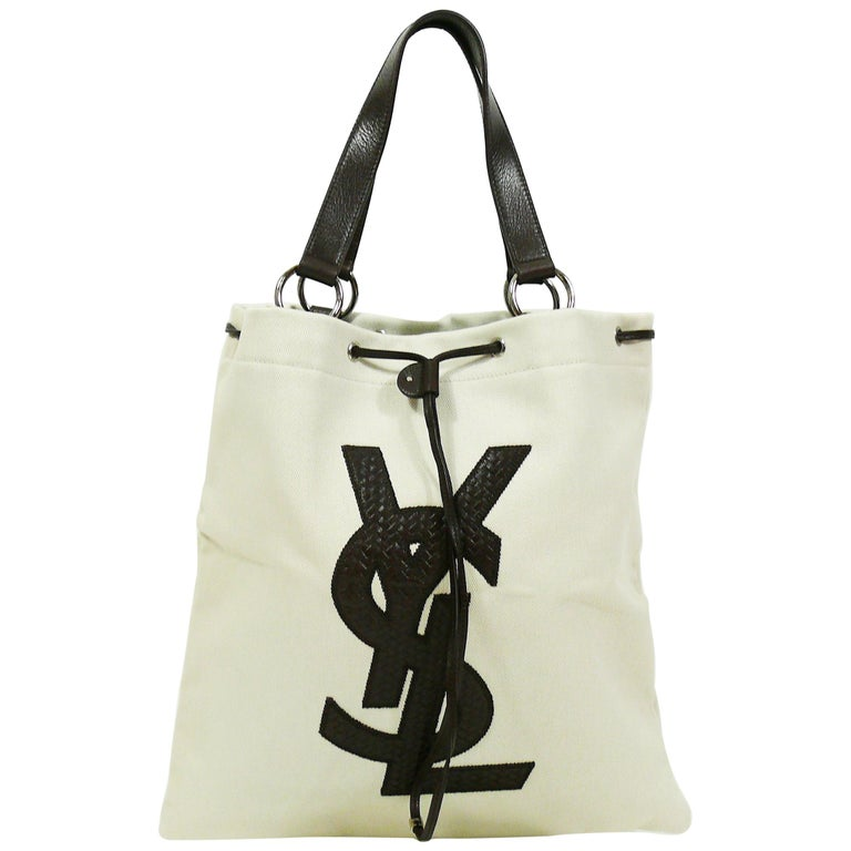 Yves Saint Laurent Canvas Ysl Tote Bag At 1stdibs