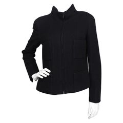 A 1990s Vintage Black Chanel Cashmere Jacket