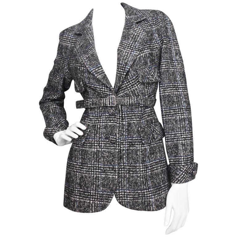 Chanel Vintage Tartan Blazer Jacket, 1990s
