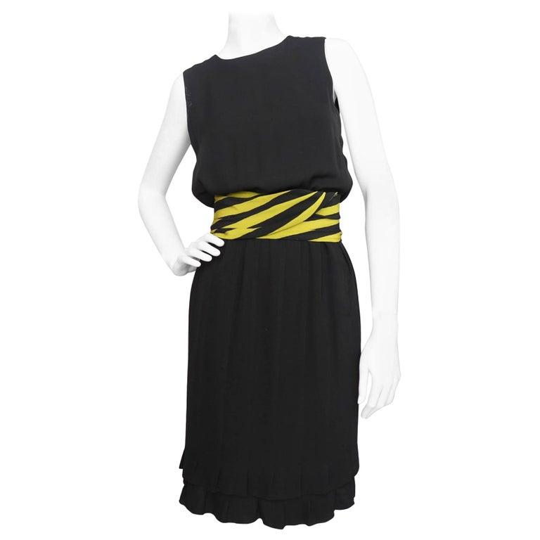 A vintage S/S 1981  Little Black Christian Dior Haute Couture Dress