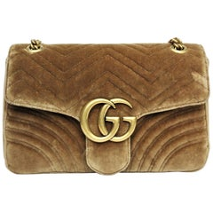 Gucci Brown Marmont Velvet Bag