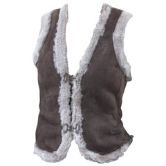 New Da-Nang Grey Shearling Vest  Sz S