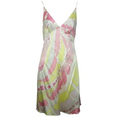 Emilio Pucci Silk Pink and Green Print Dress - 8