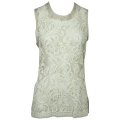 Dolce & Gabbana Taupe Sleeveless Lace Top