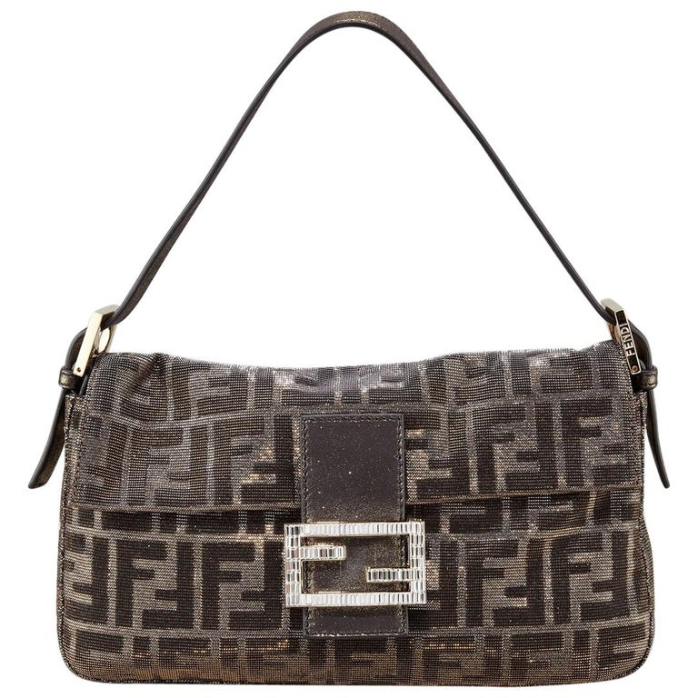a3ced2d1a1a New Fendi Collectors Crystal Baguette Bag Featured in the 15th Anniversary  Book For Sale