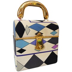 Pucci Mod Printed Silk Box Bag, 1960s